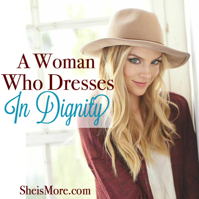 a woman who dresses in dignity